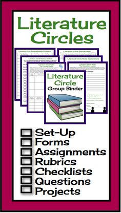 Absolutely everything you need to set up Literature Circles in your middle high English classroom!  Print and you are ready to go! #literaturecircle #litcircle