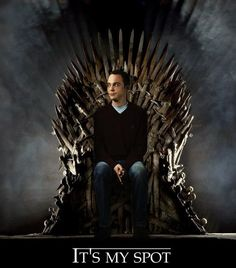 Big Bang Theory and Game of Thrones Mash Up.  Yeah I think Sheldon can take out King Joffery.