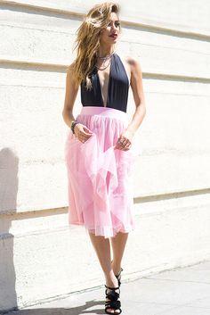 A'GACI | Julie Tulle Midi Skirt | #Agaci