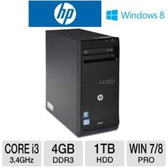 HP Pro 3500 Core i3 1TB HDD 4GB DDR3 Desktop PC $499.99 | eSaleFinder.com