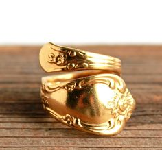 02d7a29b5b694 13 Best GOLD SPOON RINGS images in 2014   Spoon rings, Art deco ring ...