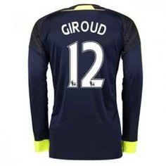 16-17 Arsenal Football Shirt LS Third #12 Giroud Cheap Jersey [G00905]