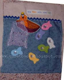 How to Make a Quiet Book: Page 16: Fishing