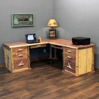 Red Cedar Log Executive Desk