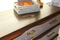 Restoration Hardware-Inspired MCM Dresser Makeover — Highstyle ReStyle  http://www.highstylerestyle.com/blog/mid-century-modern-dresser-makeover  #DLawlessHardware