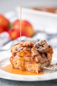 Overnight Cinnamon Apple French Toast Casserole