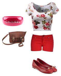 """""""Untitled #1306"""" by maxinehearts ❤ liked on Polyvore featuring Chanel, Tommy Hilfiger, NOVICA, women's clothing, women, female, woman, misses and juniors"""