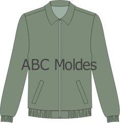 MOLDE JAQUETA COM ELÁSTICO ( FORRADA) Adidas Jacket, Athletic, Sweaters, Fashion, Jacket, Women Blazer, Shearling Vest, Productivity, Sewing