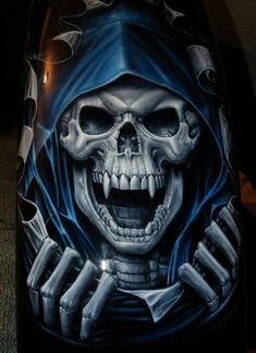 Euro 5 stage layer multilayer step by step airbrush skull stencil template stencil set Dark Fantasy Art, Dark Art, Tatto Skull, Airbrush Skull, Grim Reaper Art, Grim Reaper Images, The Crow, Skull Stencil, Skull Tattoos
