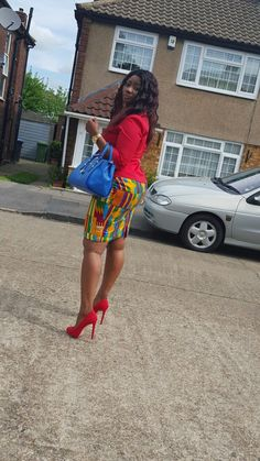 Stylish ideas for latest african fashion look 143 African Fashion Skirts, African Dresses For Women, African Print Dresses, African Print Fashion, Africa Fashion, African Attire, African Wear, African Women, African Outfits