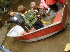 Having a boat for in an outdoor space area is great for children to spite their imagination and get involved in pretend play.