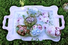 HAND PAINTED PORCELAIN EASTER EGGS BY FARNAZ FARZAD
