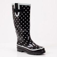 Polka Dot Rain Boot.