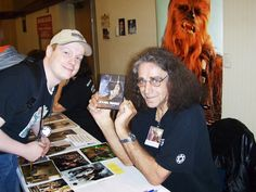 Peter Mayhew getting his copy of Star Wars Revisited, in which Chewbacca gets his medal at the end!  So happy about this.  http://swrevisited.wordpress.com