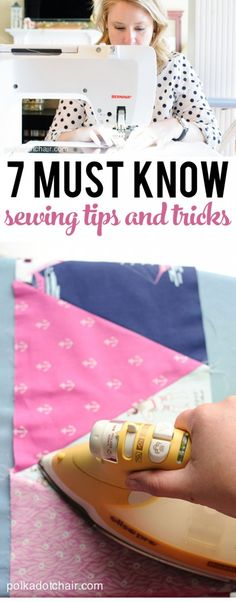 Sewing Techniques Couture 7 sewing Tips and Tricks, great read especially if you are a new seamstress, or learning how to sew. Sewing Hacks, Sewing Tutorials, Sewing Crafts, Sewing Tips, Sewing Ideas, Sewing Lessons, Sewing Basics, Diy Crafts, Sewing Essentials