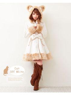 Rakuten [MV] [choose ear series ♪ rabbit or cat of ribbon and fur coat with   P   DM] [M ~ LL] [ZKLH-C9] ◆ already in stock: dream outlook optimistic market store ♡ kawaii