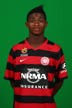 Kwabena Appiah-Kubi Photos - Kwabena Appiah-Kubi poses during a Western Sydney Wanderers FC A-League headshots session at Blacktown International Sportspark on September 2012 in Sydney, Australia. Wander, Westerns, Sydney, Polo Ralph Lauren, Football, Poses, Wall, Mens Tops, Soccer