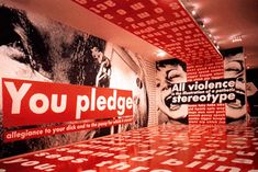 Barbara Kruger - A Room With A View, installation in the Mary Boone Gallery.