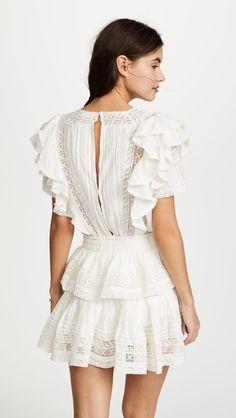 LOVESHACKFANCY Stella Short Sleeved Mini Dress - We Select Dresses Dresses Short, Cute Dresses, Summer Dresses, Floral Dresses, Winter Dresses, Women's Dresses, India Fashion, Look Fashion, Fashion Outfits
