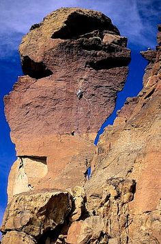 "Got to love a rock thats called ""Monkey Face"" @ Smith Rock State Park, Terrebonne Oregon  Great climb!"