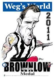 Brownlow medalist 2011 Dane Swan