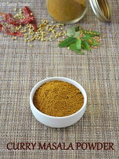 Spicy Treats: Homemade Curry Masala Powder / Curry Masala Powder Recipe