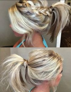 #ponytail #braid #everyday #hairstyle