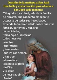 Prayer Scriptures, Faith Prayer, Catholic Prayers In Spanish, Strong Faith, Religious Education, Morning Prayers, God Loves Me, St Joseph, Gods Love
