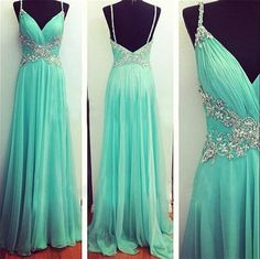 New Sexy Prom Dresses Chiffon Beading Backless Evening Party Formal Gowns Custom #Unbranded #Formal