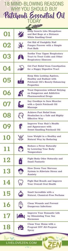 While patchouli essential oil is mostly known for its pungent sweet and spicy aroma, it actually boasts an incredible variety of health benefits that have been known for thousands of years. From treating clinical depression to reducing a fever, patchouli Lavender Essential Oil Benefits, Essential Oil Uses, Doterra Essential Oils, Young Living Essential Oils, Essential Oils For Depression, Patchouli Oil, Patchouli Essential Oil, Essential Oil Diffuser, Coconut Oil Uses