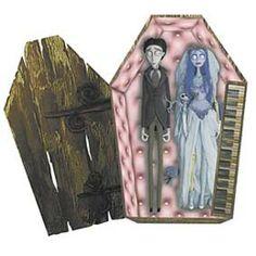 Casal Noiva Cadáver + Cão (Piano box set) Tim Burton.