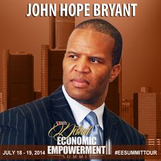 """""""The Bible says that where there is no vision, the people perish. We must have a vision larger than ourselves."""" - Join John Hope Bryant at the Detroit Economic Empowerment Summit July 18 & 19, 2014 in Detroit, MI. http://hubs.ly/q0drp0 #EESummitTour"""