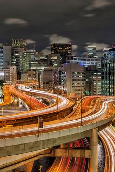This is 日本 » my-yamanote-mood:   Tokyo Highways 7951 da... Tokyo Tower, Japanese Streets, Times Square, Places To Go, Travel, Tokyo Japan, City Lights, Roads, Cities