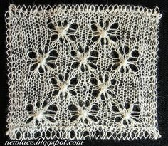 This pattern is play with interesting lace stitch, when odd number of stitches is knitted together and the same amount of stitches is raised from them.
