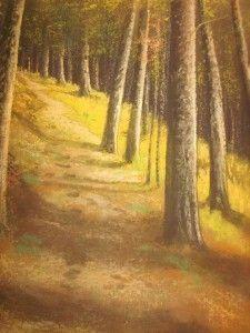 RARE Gunderson Antique Art Pastel