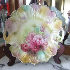 "RS Prussia ""Bouquet of Carnations Plate"