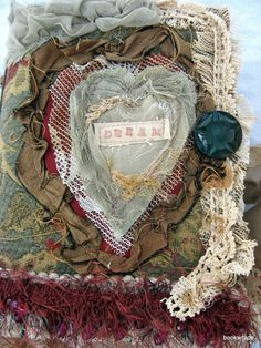 Victorian Style Journal Mixed Media Tapestry Lace Bead Journal Travel Vtg Lace | eBay