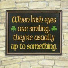IRISH QUOTE When Irish eyes are smiling, they're usually up to something. Irish Saying Vintage Frases, St Patricks Day Quotes, Irish Quotes, Irish Sayings, Scottish Sayings, Life Quotes, Funny Quotes, Bar Quotes, Irish Eyes Are Smiling
