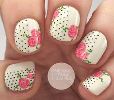 Rose Polka Dots | One Nail To Rule Them All | Bloglovin'