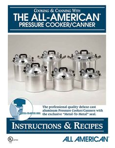 All American 74 Pressure Cooker Canner Instruction Recipe Book * Special  product just for you. See it now! : Small Appliances