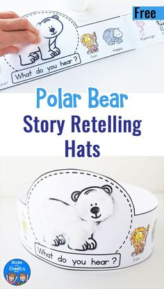 Polar Bear Polar Bear What Do You Hear activities with a printable story sequencing hat for preschoolers #earlyliteracy #preschool #freeprintable via @booksandgiggles