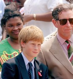 Prince Harry and his father, Prince Charles ...