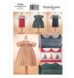 Toddlers' Dress, Shirt & Overalls