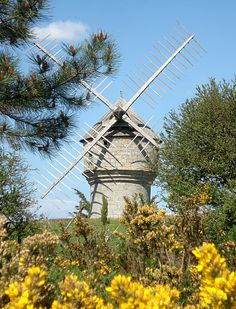 mill in Guérande, Loire Atlantique Moulin France, Photo Chateau, Water Mill, Wind Spinners, Building Art, Le Moulin, Lighthouse, The Good Place, Scenery