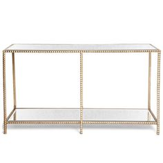 Gold Stud Console Table – Laurier Blanc | Unique Home Decor From Around The World #console #gold