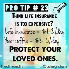 We find it easy to justify the #insurance cost for our cars or cell phones, and we shrug away the cost for #coffee or manicures without a second thought on how our loved ones would cope without our income and our left over debt. Give them the gift of peace of mind when it's our time to leave this world. The longer you put it off, the more expensive it gets! #truelove #love #family #debt #money #finance #protection #wealth #health2wealth #savingmoneyoninsurance
