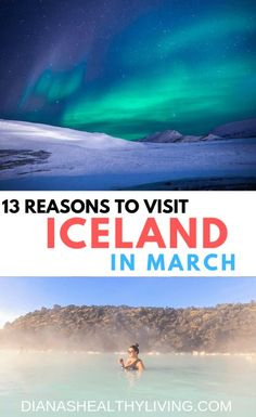 Is Iceland on your bucket list? Winter is probably the most beautiful time to visit Iceland. Chase the Northern Lights, see amazing waterfalls, soak in the Blue Lagoon and hike a glacier! Check out the 13 Reasons to Visit Iceland In March Best Iceland Tours, Iceland Travel Tips, Europe Travel Tips, Spain Travel, European Travel, Travel Destinations, Travel Guides, Backpacking Europe, Travel Hacks