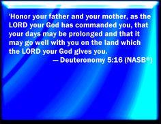 deuteronomy 5:16 - Google Search