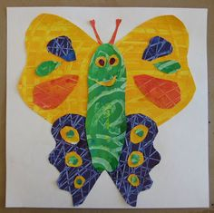 Butterflies Inspired by Eric Carle | TeachKidsArt