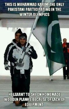 The Only Pakistani at the Sochi Olympics Taught Himself to Ski on Wooden Planks · Global Voices Pakistan Defence, Pakistan Zindabad, Dump A Day, What Have You Done, Faith In Humanity Restored, Picture Day, Winter Olympics, Funny Photos, Funny Images